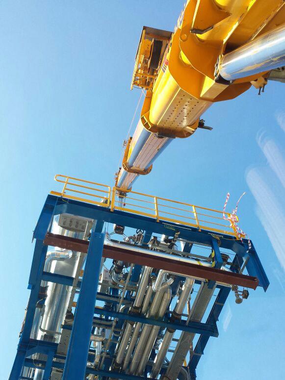 Noleggio gru per montaggio grandi impianti (foto 2)