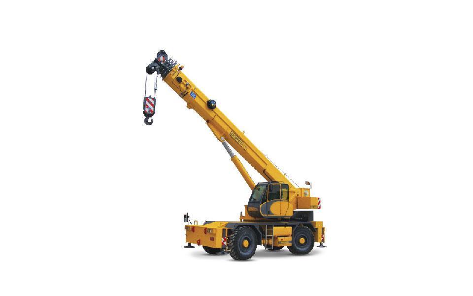 Noleggio autogru fuoristrada con portata fino a 50 ton. e 37,5 metri di altezza