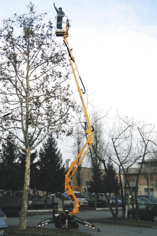 Noleggio piattaforme aeree a ragno fino a 14 metri di altezza